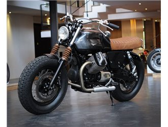 Cache-démarreur pour Moto Guzzi V7 et V9