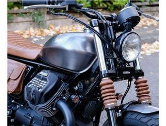 Fixation de phare Bates pour Moto Guzzi V9