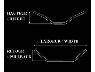 Flat Track handlebars Ø22mm