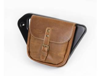 Side leather saddlebag for...